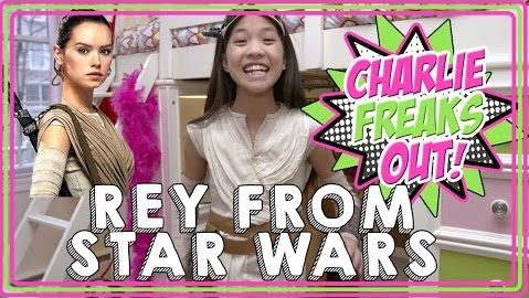 Charlie freaks out rey star wars batterypop