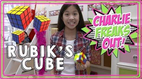 Charlie freaks out solving rubiks cube batterypop