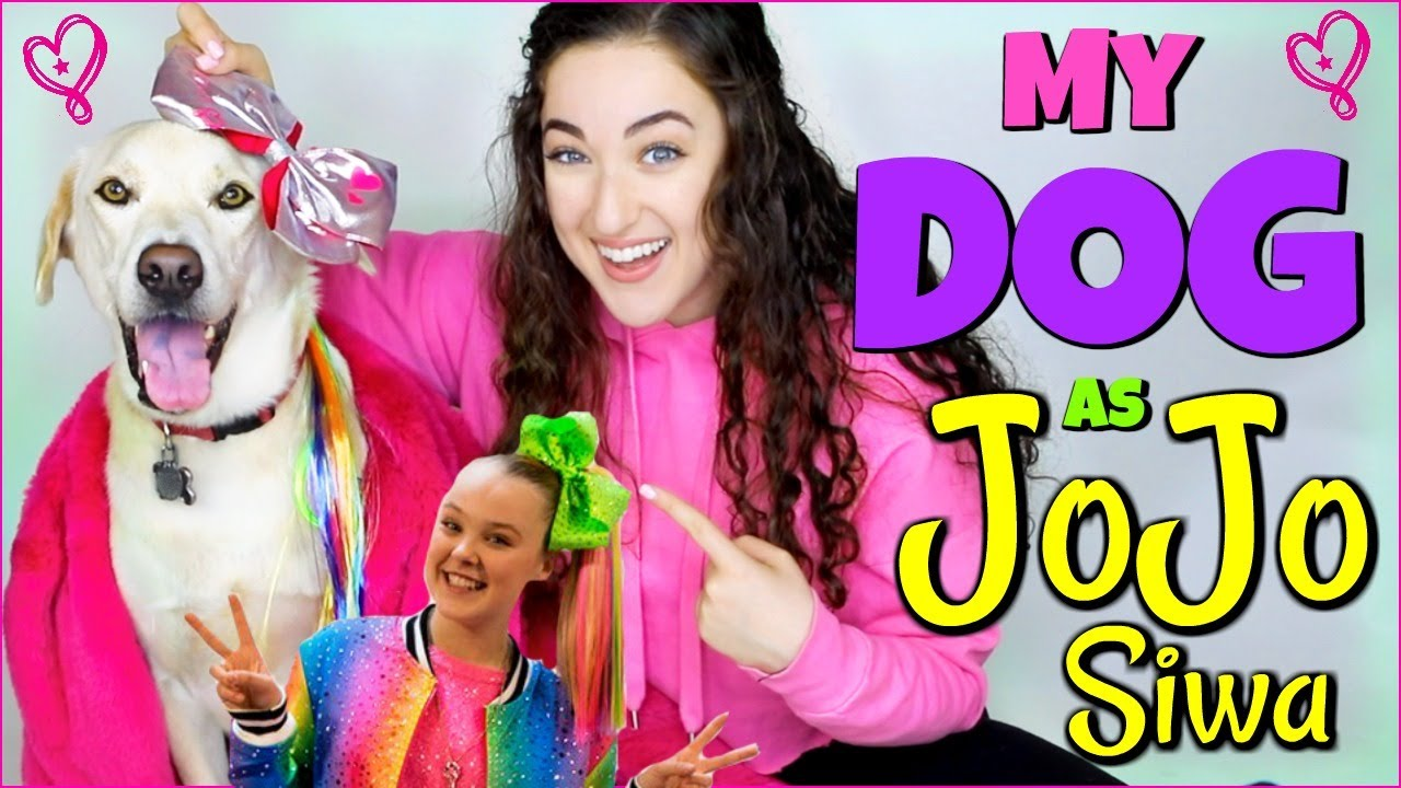 Giving my puppy a jojo siwa makeover